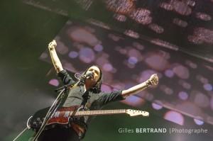 Le chanteur Brian MOLKO du groupe de rock PLACEBO sur la scene de l'arena de Geneve, Suisse le 24 novembre 2013. Photo by Gilles Bertrand/ABACAPRESS.COM