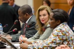 Valérie Trierweiler à l'ONU à Geneve pour plaider la cause des femmes violées en RDC - La compagne de François Hollande, a ouvert une conférence sur la situation en RDC, organisée en marge de la session du Conseil des droits de l'homme, a Geneve, Suisse le 30 mai 2013. Photo Gilles Bertrand/ABACAPRESS.COM