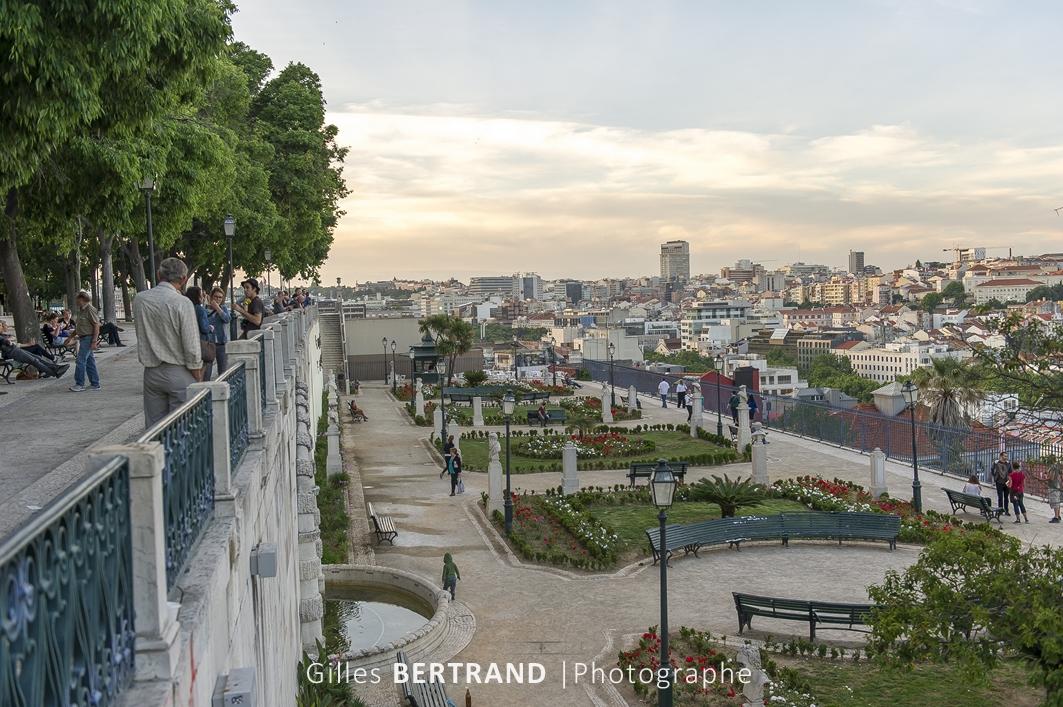 LISBONNE - Jardins de San Pedra de Alcantara