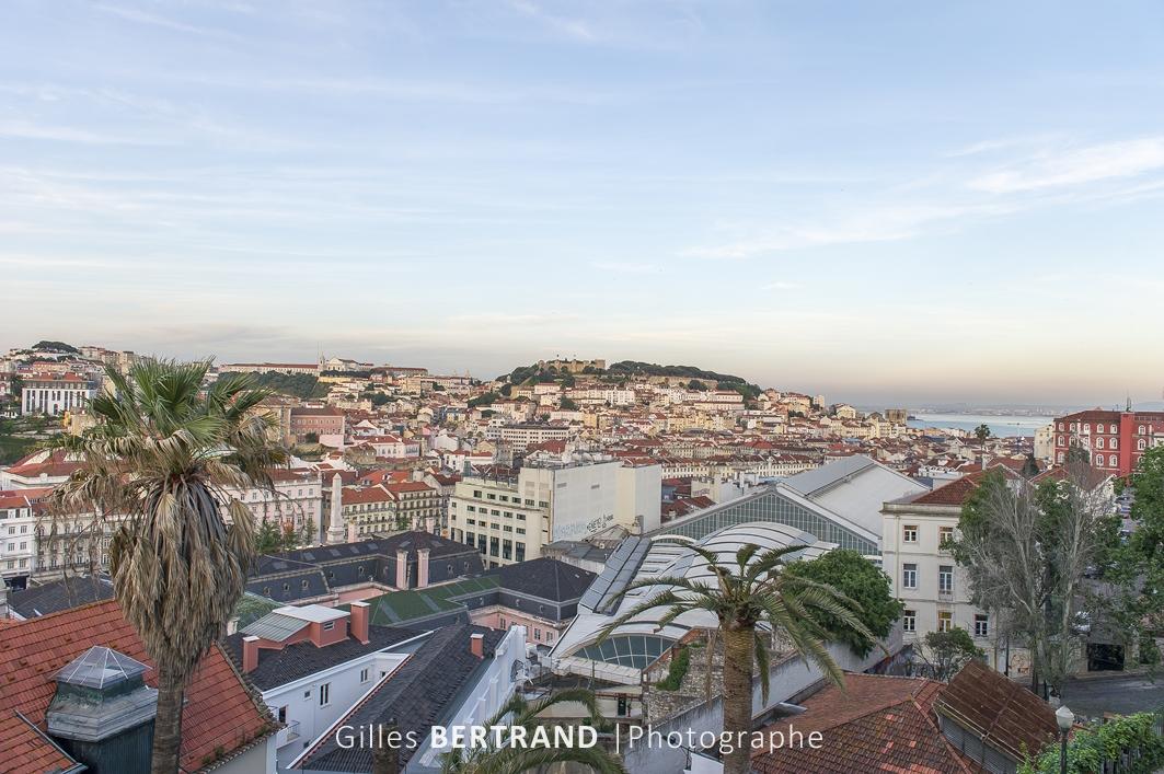 LISBONNE - Vu sur les toits de Lisbonne