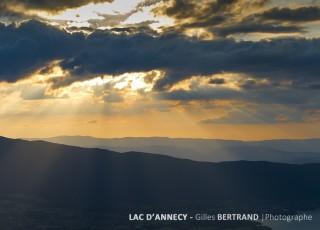 ANNECY - COUCHER SOLEIL SUR LE LAC