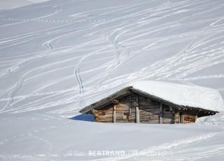 chalet d'alpage - les saisies - le 13 janvier 2012 - photo : Gilles Bertrand / CIT'images