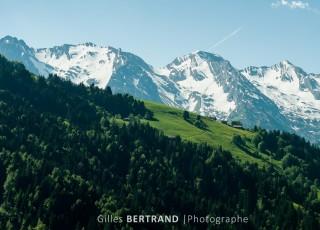 levé du soleil sur les alpes, au grand bornand le 16 juin 2013, photo Gilles BERTRAND